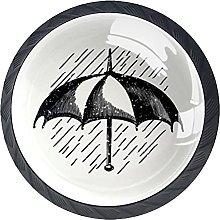 Xingruyun Tiradores para Muebles Paraguas Negro