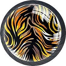 Xingruyun Tiradores para Muebles Textura De Tigre