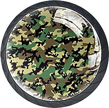Xingruyun Tiradores para Muebles Verde Camuflaje