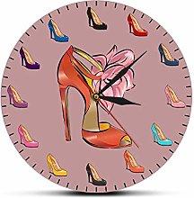 xinxin Reloj de Pared Zapatos de Mujer Femenino