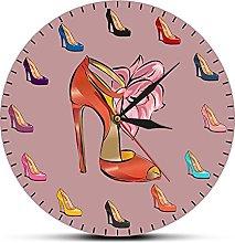 xinxin Reloj de Pared, Zapatos de Mujer, Reloj de