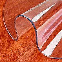 XINZB Suave Redonda Cristal Mantel Transparente