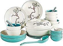 Xkun Juego de platos chinos pequeños frescos 6