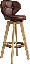 XKun silla de bar alto taburete de bar de cuero PU