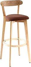 Xkun silla de bar taburete de madera maciza