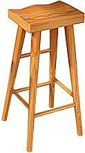 Xkun Taburete alto de madera silla de bar