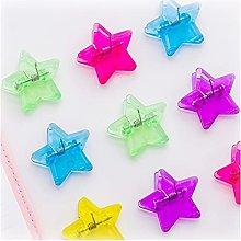 Xn923 10 unids linda estrella de plástico de