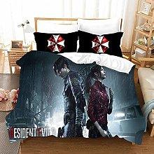 XSXS 3D Juego De Ropa De Cama, Serie Resident Evil