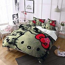 XWXBB Hello Kitty - Juego de cama infantil, funda