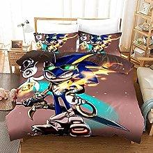 XWXBB Sonic Anime - Juego de ropa de cama para