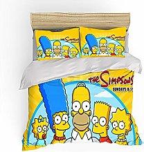 XWXBB The Simpsons - Juego de cama infantil (funda