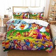 XWXBB Winnie Pooh - Juego de ropa de cama ligera,