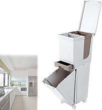 XYEJL Cubo Basura De Cocina,Sistema De Separación