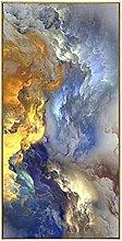 YABINGA Abstracto Colorido Nubes Lienzo Pintura
