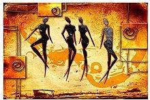 YABINGA Carteles de Baile de Mujer Africana