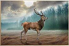 YABINGA Impresión en Lienzo Cartel de Ciervo del