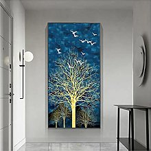 YABINGA Impresión en Lienzo Rich Abstract Tree