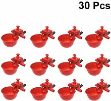 Yardwe 30Pcs Tazas de Agua de Pollo Automáticas