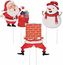 YARNOW 3 Piezas Letreros de Patio de Navidad