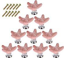 YAVSO Pomos y Tiradores, 10pcs Ceramica Pomos
