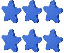 YAVSO Pomos y Tiradores, 6pcs Estrella Pomos