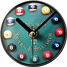 YEESEU Billar Nevera Reloj Retro Billar Nevera