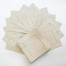 YEZINB 12 Piezas servilletas de Lino dobladas