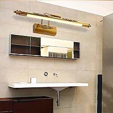 YHSGD Retro LED baño Espejo luz de latón