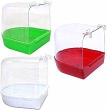YITON Bañera Pajaros Caja De Baño Transparente