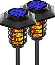 Ylight Lámpara de Llama Solar 4pcs, Luces de