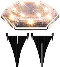 Ylight Luces de Disco con energía Solar, Luces