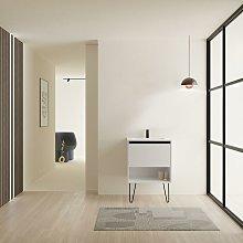 YOKO Mueble+Lavabo 1 Cajón 1 Hueco Blanco Brillo
