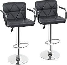 Yongqing - 2x taburetes de bar, silla de bar con