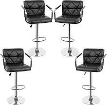 Yongqing - 4x taburetes de bar, silla de bar con