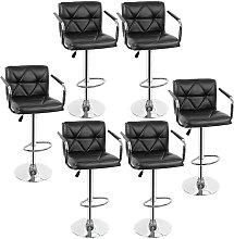 Yongqing - 6x taburetes de bar, silla de bar con
