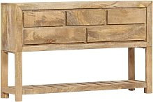 Youthup - Aparador 120x30x75 cm madera maciza de