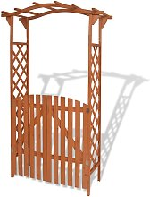 Youthup - Arco de jardín con puerta de madera