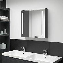 Youthup - Armario de baño con espejo LED gris