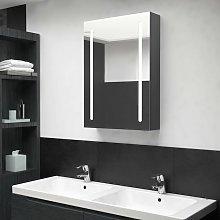 Youthup - Armario de baño con espejo y LED gris