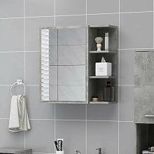 Youthup - Armario espejo de baño aglomerado gris
