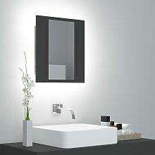 Youthup - Armario espejo de baño con luz LED gris