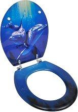 Youthup - Asiento inodoro WC MDF tapa delfines -