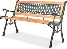 Youthup - Banco de jardín 122 cm de madera -