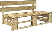 Youthup - Banco de palés para jardín madera -