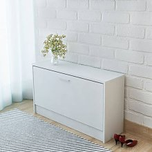 Youthup - Banco zapatero 80x24x45 cm blanco -