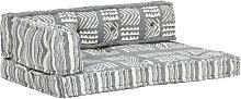 Youthup - Cojín para sofá de palés tela gris