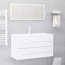 Youthup - Conjunto de muebles de baño 2 pzas