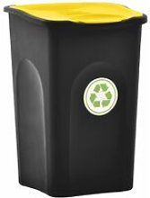 Youthup - Cubo de basura con tapa de bisagra 50 L