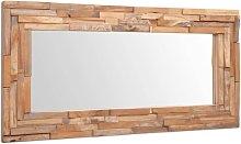 Youthup - Espejo decorativo de teca 120x60 cm