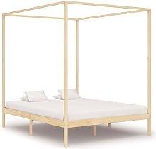Youthup - Estructura de cama con dosel madera
